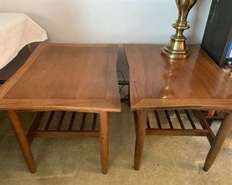 Pair of mid century end tables; very nice condition