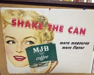 M. J. B. Coffee poster