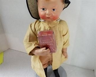 Uneeda Biscuit Boy, By Nabisco doll with original box