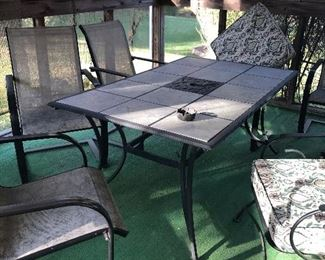 Patio table and 6 chairs 85.00
