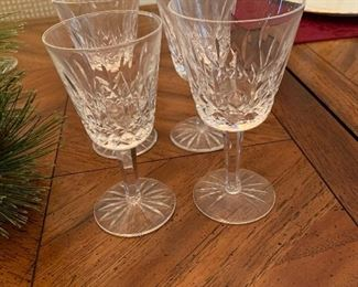Waterford Lismore  smaller wine glasses- 12
