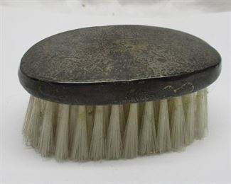"""Antique Webster Sterling small brush.  3 1/8"""" wide.  Some dents on edge from use."""