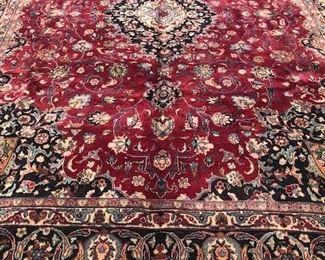 8R 910x13 Signed Antique Persian Mashad