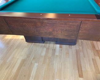 9' Custom built Billiard table- $2500 Slate thick 3 panels, new automatic ball return, new felt, custom balls and pool cue rack, vinyl cover and custom padded cover