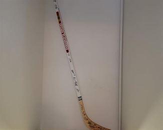 Signed Blackhawks hockey stick