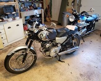 Vintage 1966 Honda CB160 motorcycle
