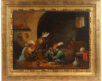 Lot 11 | (ATTRB) DAVID (THE YOUNGER) TENIERS II (1610-1690), Singerie 'Monkey Trick'