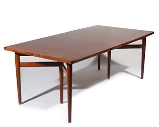 Lot 38   ARNE VODDER ROSEWOOD DINING TABLE, Mid-Century Modern
