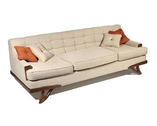 Lot 44   MID-CENTURY MODERN SOFA, MANNER of ADRIAN PEARSALL