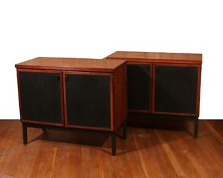 Lot 50   PAIR MID-CENTURY ROSEWOOD CABINETS