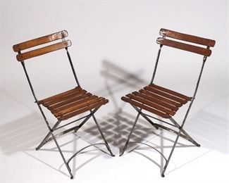 Lot 62   PAIR FRENCH FOLDING CHAIRS