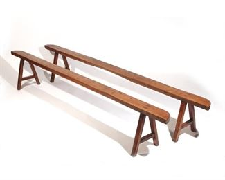 Lot 76   PAIR CHINESE BENCHES