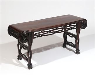 Lot 77   19th CENTURY CHINESE ALTAR BENCH