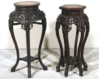 Lot 79   (2pc) CHINESE STONE PEDESTALS