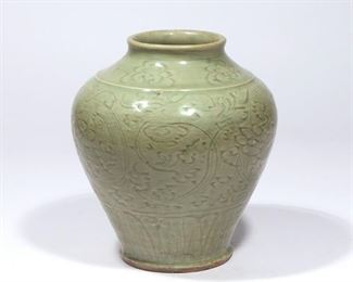 Lot 83   CHINESE SONG DYNASTY CELADON VASE
