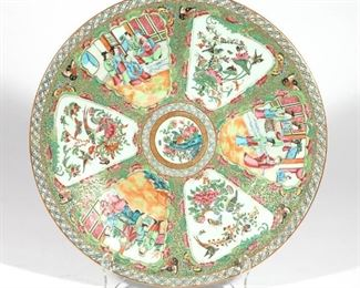 Lot 90   CHINESE  FAMILLE ROSE ENAMELED CHARGER