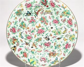 Lot 96   CHINESE PAINTED BUTTERFLY CHARGER