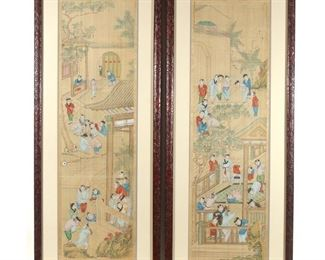 Lot 98   PAIR CHINESE PAINTINGS