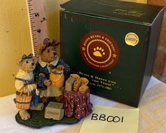 "(Photo 1 of 2) Boyds Bearstone 2001 ""Kimberly & Kaitlyn"" #228376LB Longaberger Exclusive LE $25"