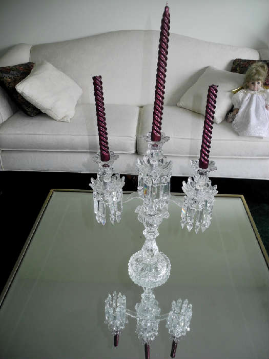 Gorgeous Baccarat Crystal Candelabra, oh my!