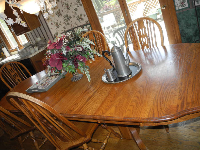 Very large kitchen table with two leaves....