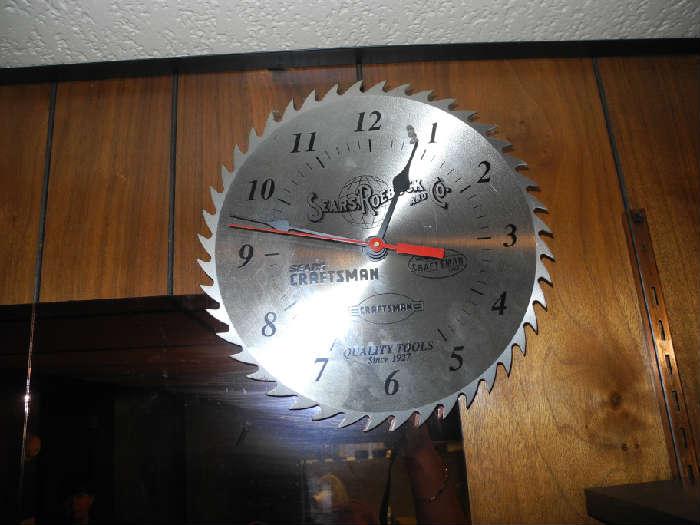 Craftsman saw blade clock!
