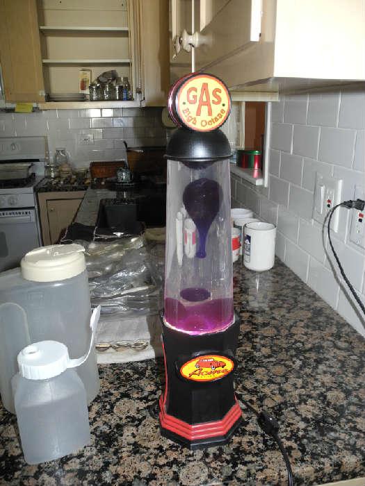 Gas station pump lava lamp