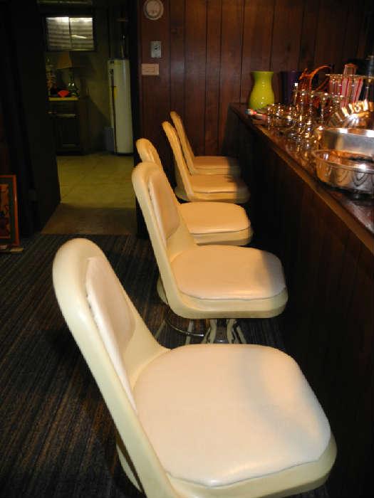 Groovy vintage 60's bar stools