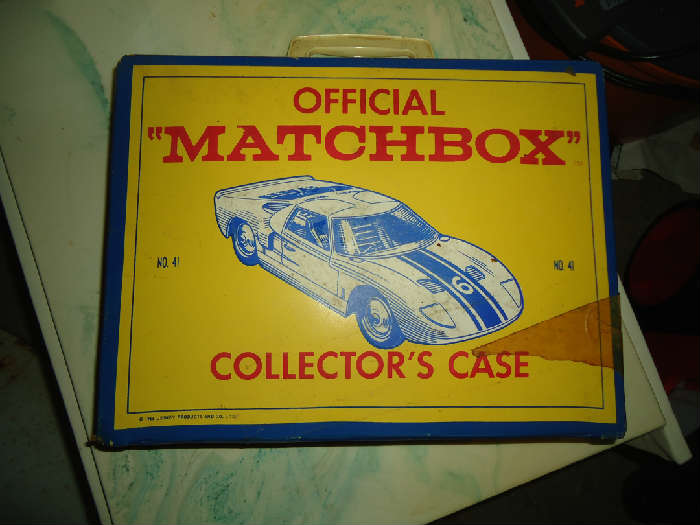 Matchbox case filled with vintage cars