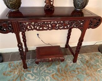 Oriental Foyer Console $395 Call or Text for Updated Discount Price - (Small map table SOLD )