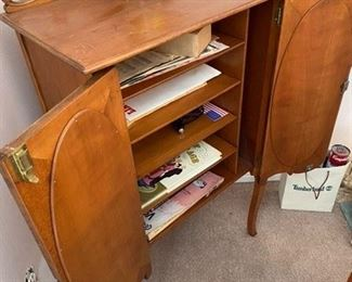 """Unusual double door music sheet cabinet with mirrors 37.5""""H x 14""""D x 23""""W $325 - Call or Text for Updated Discount Price"""