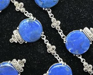 Antique WACHENHEIMER Sterling Blue gemstone set