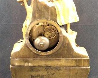 ANTIQUE LOUIS XVI STYLE FRENCH GILT CLOCK
