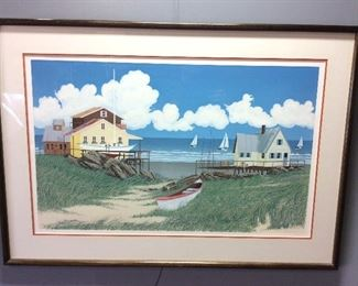 SIGNED # 42/160 WATERCOLOR BY OPIE, ART