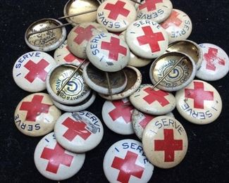 WW 1 RED CROSS PIN COLLECTION