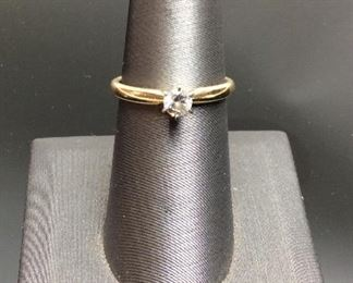14KT DIAMOND SOLITAIRE RING, 2.4G, SIZE 7