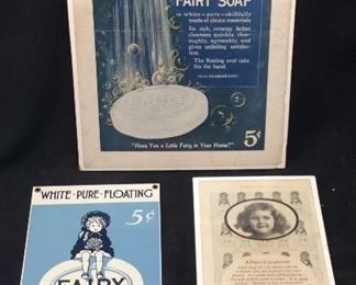 VTG. FAIRY SOAP 5C SIGN, PAPER AD, SOAP ADVERTISING