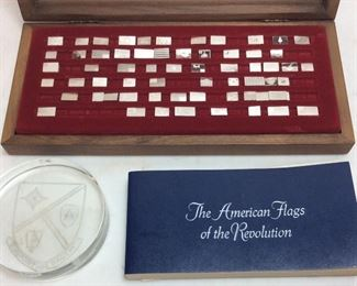 STERLING SILVER AMERICAN FLAGS