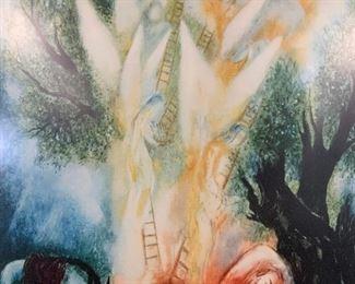 REUVIN RUBIN Signed Jacob's Dream Lithograph, Art