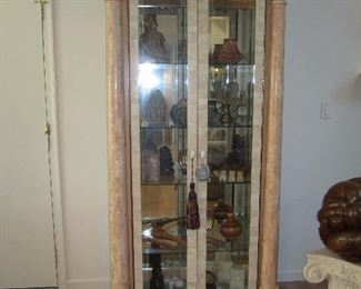 Lighted Glass Door Display Curio