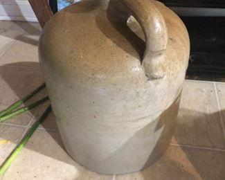 Several stone jugs