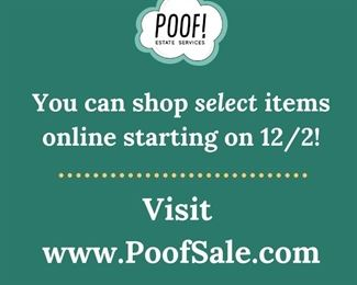 Shop select items from this home on POOFSALE.COM