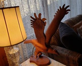 Carved eagle 200.00