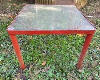 $50. Metal Table. Glass Top