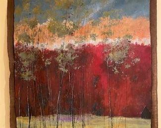 "$1,200 Thomas Andrew Painting. Canvas on Burlap. 43""x54""."