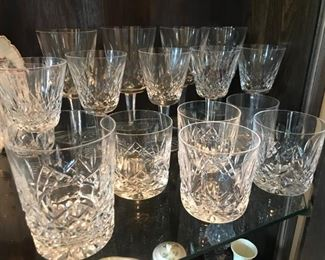 (5) Waterford Rock glasses $56.00