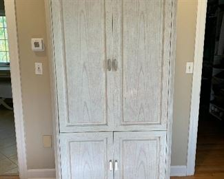 Vintage Henredon Charisma Collection Wardrobe Armoire, Seashell Finish $250