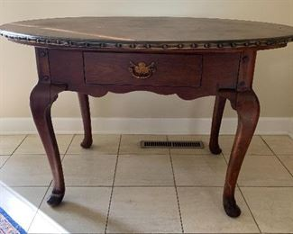"Ralph Lauren Leather Top Table Desk/Accent Table   48.25""W x 36.5"" D x 29.75"" H. $150"