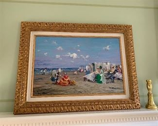 Framed Day at the Beach $100
