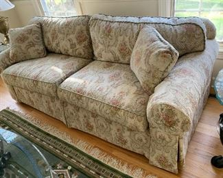 Ethan Allen Sofa:  Extremely Clean, Excellent Condition and Quality overstuffed rolled arms:  $200